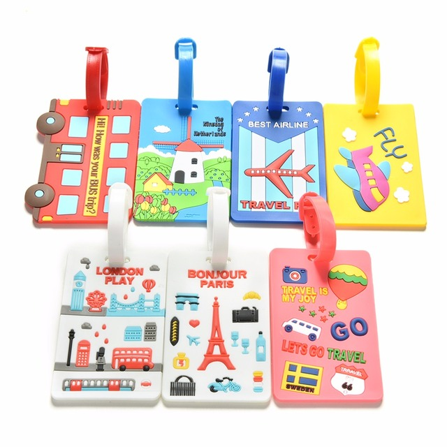 2017 Candy Color Travel Luggage Tag Label Name Id Address Identification Tags Suitcase Baggage