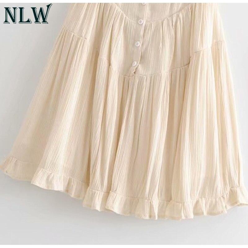 19 Summer Pleated Short Dress A-Line Dress Sexy Slim Beach Dress