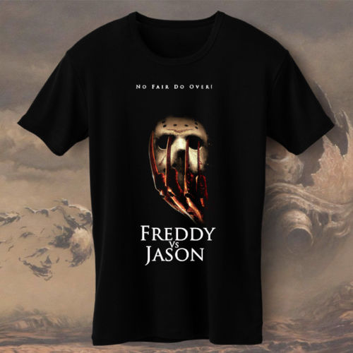 Классная футболка компаний Фредди Крюгер против Джейсона no Fair не более размеры S, M, L XL 2Xl-4Xl экипажа Средства ухода за кожей Шеи Для мужчин кор... ...