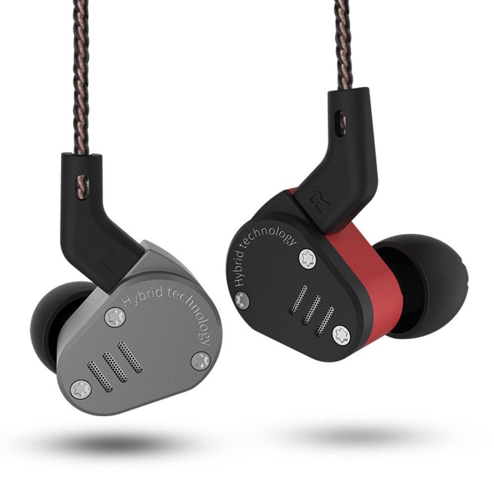 Original KZ ZSA 1BA + 1DD Hybrid In Ear Earphone HIFI DJ Monito Running Sport Earphone Headset Earbud KZ ZS10 KZ ES4