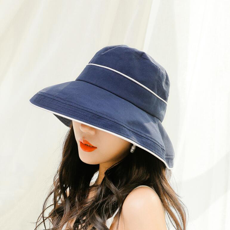 BINGYUANHAOXUAN 2019 New Summer Bucket Caps Retro Cotton Hats for Men Women Outdoor Travel Hat