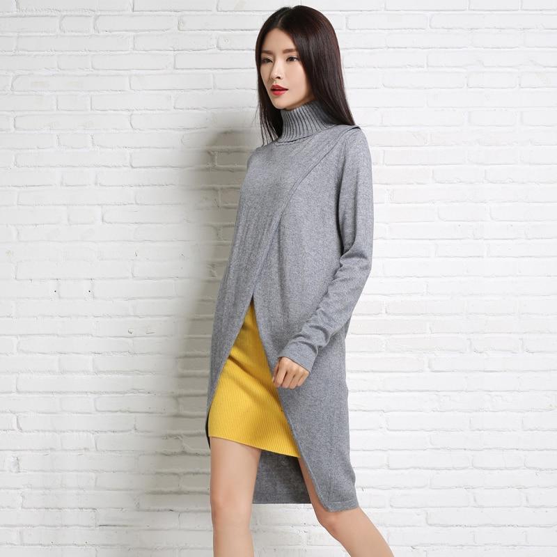 adohon 2018 дамски зимни пуловери от кашмир и есенни пуловери жени Висококачествено Топло Женско сгъстяване Turtleneck Long