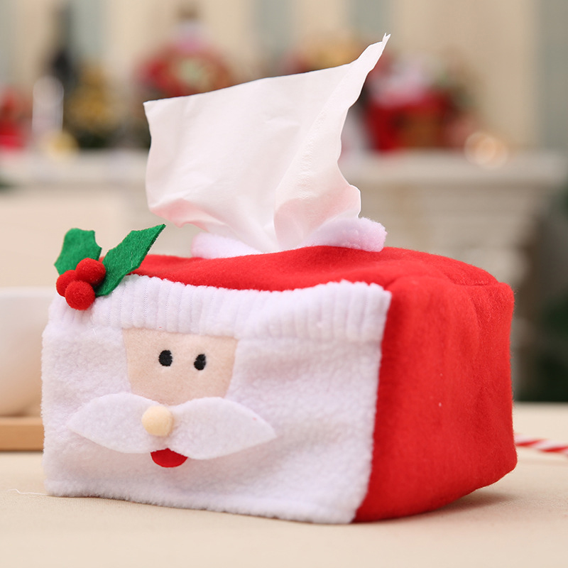 Kitchen Storage & Organization Home & Garden Lovely Cute Table Tissue Box Case Napkin Holder For Home Christmas Xmas Dinner Tablecloth Decorations Facial 6a0446
