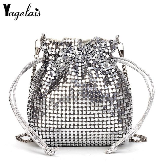 Women Sequined Shoulder Bag Fashion Woman Bling Shiny Glitter Sequins  Sparkling Shoulder Bags Handbags Mini Small Bucket Bag a9764f6868d9