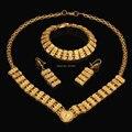 2015 Novos conjuntos de jóias colar brincos nupcial conjuntos de jóias de cristal banhados a ouro resultados da jóia de cristal set jewelrys