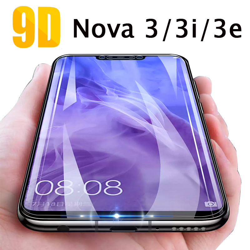 New 9D Tempered Glass For Huawei Nova 3 3i 3e Screen Protector Tempered Glass On For Huawei Nova 3 3i Huavei Huawey Nova3 Film