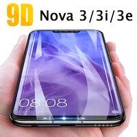 Protector de pantalla de vidrio templado 9D para Huawei Nova 3, 3i, 3e, Nova 3, 3i, huavei, huawey, Nova3
