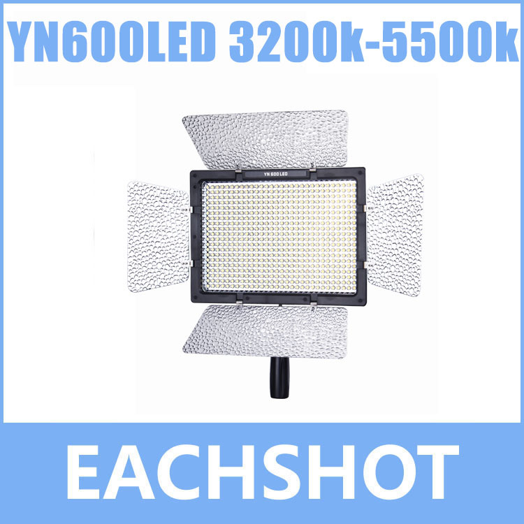 YN-600 YN-600L <font><b>YN600L</b></font> LED 3200k-5500k, YN600LED 3200k-5500k Color Temperature Adjustable LED Video Light image