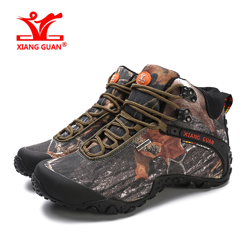 Xiangguan Hiking Shoes 2017 Man Outdoor Waterproof Breathable For Women Climbing Tourism Trekking Sneakers Boots EUR SIZE 36-48 2016 man women s brand hiking shoes climbing outdoor waterproof river trekking shoes