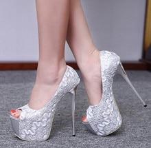Peep Toe Ultra High 16CM Shoes