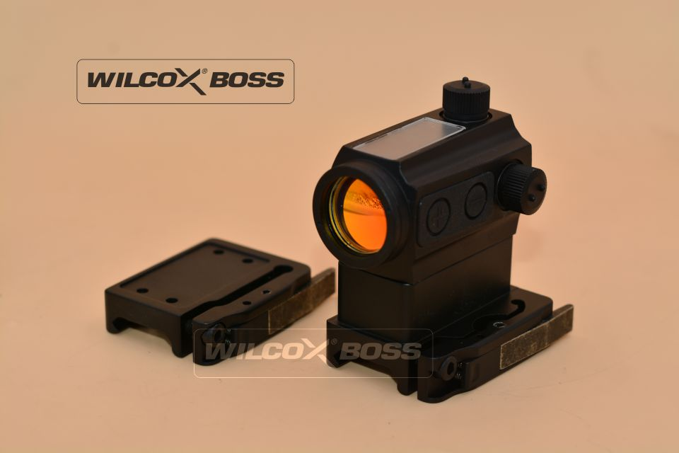 Solar Power 1x Red Dot Sight Riflescope with QD Picatinny Rail Mount Low Mount Airsoft Reflex