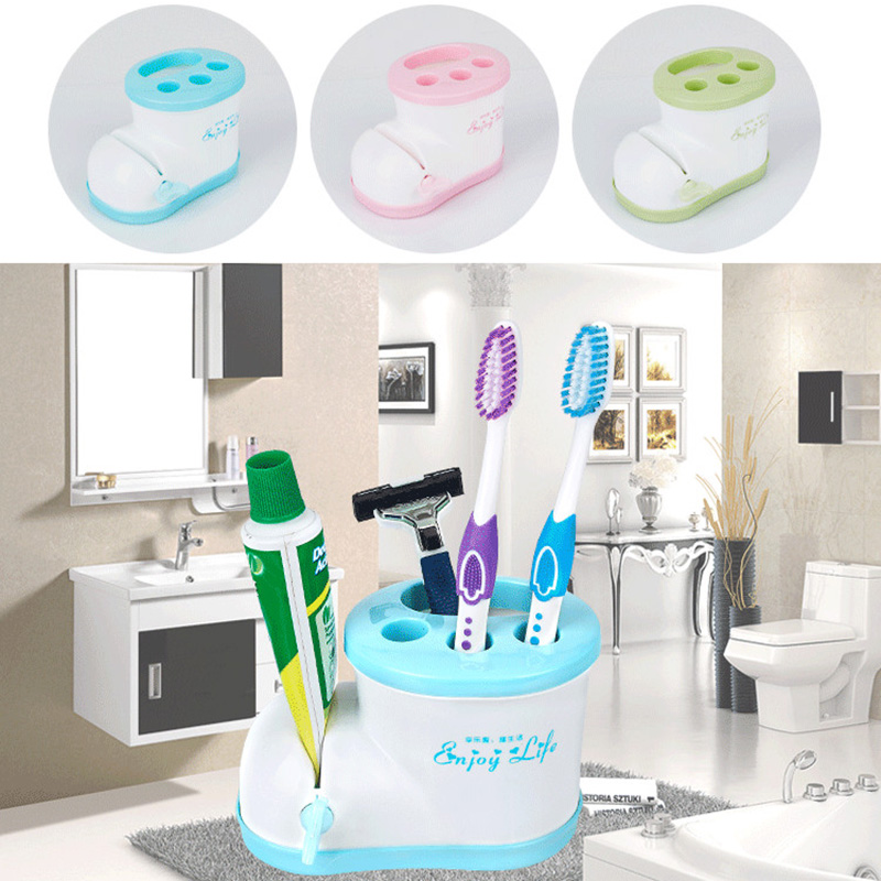 1Pc Cartoon Multifunctional Plastic Boots Toothbrush Holder with Toothpaste Squeezer Toothbrush Shaver RackBathroom Accessories image