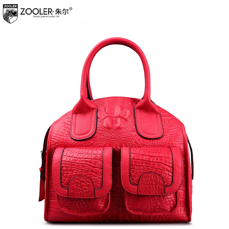 ZOOLER 2017 NEW women leather bag genuine leather handbags super soft bolsa feminina luxury top handle woman bags#3610 zooler 2017 new arrival genuine leather handbags woman design top quality crossbody bag luxury brand red ladies bags hs 3211