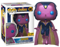 Exclusive Funko pop Official Marvel: Avengers Infinity War Vision Vinyl Action Figure Collectible Model Toy with Original Box