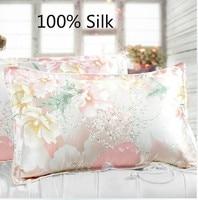 Free Shipping 100 Silk Pillowslip Pillow Case Pillow Cover Bedding Many Colurs Home Textile Cheap Good