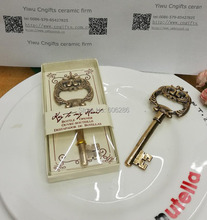 20PCS/LOT wedding giveaways for guest Antique Gold Key to My Heart Vintage Key Bottle Opener Wedding Favor