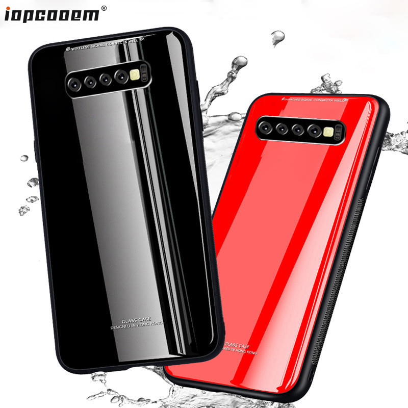S10 Lite For Samsung Galaxy S10 Case S10 Plus Fashion Business Glass + TPU Ultra Thin Phone Cover For Galaxy S10 Lite Coque