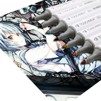 TOUCHNEW Sztuki Malarstwa Szkic Copic Marker Podwójna Głowica Mark Zestaw 40 Kolorów Alkoholowe anime Art Design rysunek markery Znak pióro
