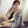New autumn and winter women's imitation rex rabbit fur and faux fox fur coat women short fake fur overcoat free shipping