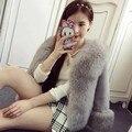 Outono e inverno nova imitação de pele de coelho rex das mulheres e faux raposa casaco de pele das mulheres curto falso casaco de pele livre grátis