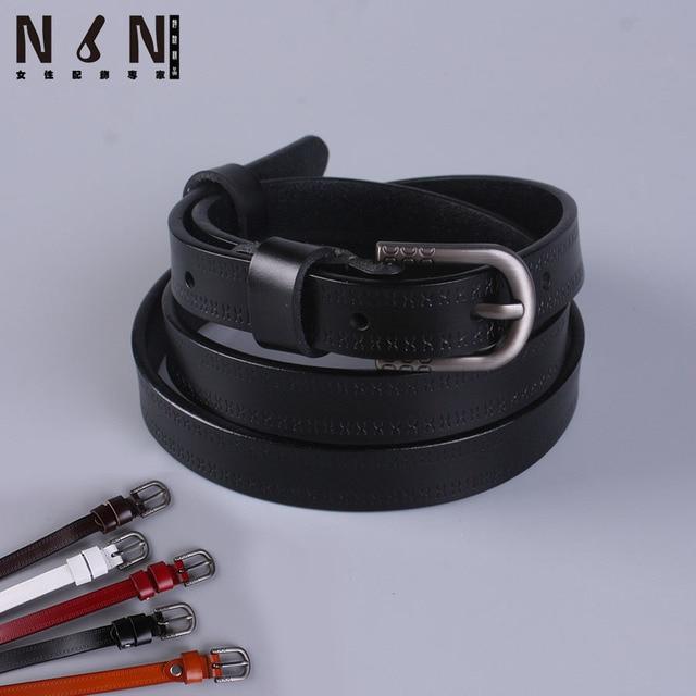 aa583cbe0f86 Nouveau en cuir micro avec jeans ceinture fille joker boucle ardillon  ceinture de peau de vache