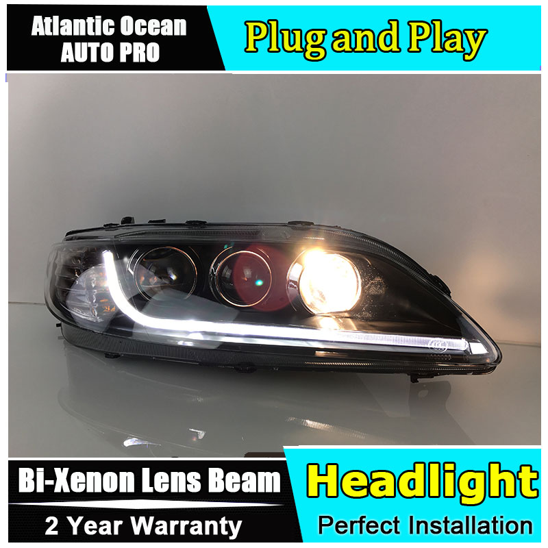 Auto.Pro Car Styling for TLZ Mazda 6 Headlights 2012 Mazda6 LED Headlight DRL Lens Double Beam HID KIT Xenon bi xenon lens hireno headlamp for 2012 2016 mazda cx 5 headlight headlight assembly led drl angel lens double beam hid xenon 2pcs