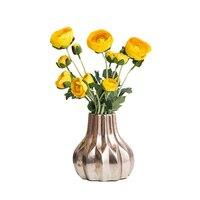 Creative Scandinavian Antique Ceramic Vases Modern Living Room Model Room Antique Vase Display Gold Flower Geometry Jar Pot