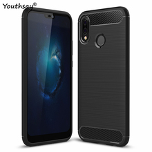 Huawei P20 Lite Case 5.84 inch Soft shockproof Carbon Fiber Rubber Silicone Phone Cover For