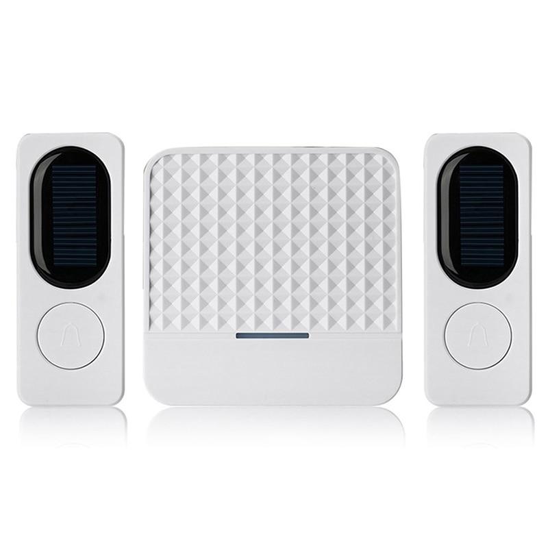 Waterproof Solar Powered Wireless Doorbell Alert System 300M Range 52 Chimes  Night Vision APP Control Security Camera