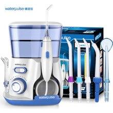 Waterpulse Dental Flosser V300 Oral Irrigator 800ml Dental Irrigator Water Jet Powerful Flosser or 5Pcs Replacement Nozzles Tips