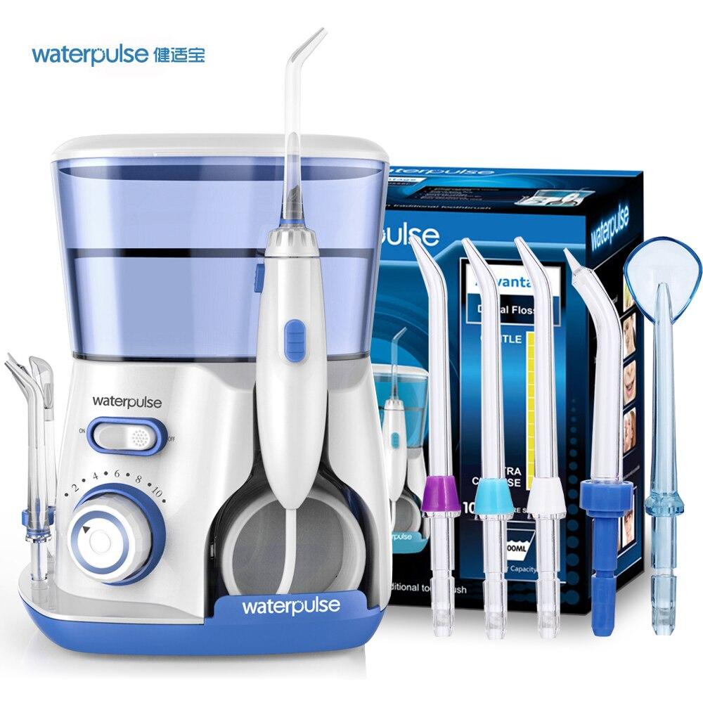 Waterpulse зубная нить V300 ирригатор для полости рта 800 мл Стоматологический Ирригатор струи воды мощный Flosser или шт. 5 шт. Замена насадки советы