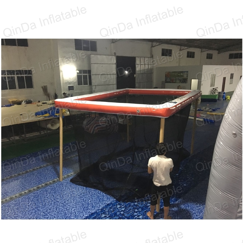 Free size Customize Floating On Lake PVC Inflatable Sea Pool Float Swimming Pool With Net Yacht Ship Swimming Pool for Boat