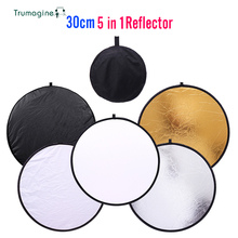 "TRUMAGINE 11.8 ""30cm 5 in 1 Mini Tragbare Faltbare Multi reflektor Licht Runde Fotografie Reflektoren für verkauf Fotografie di"