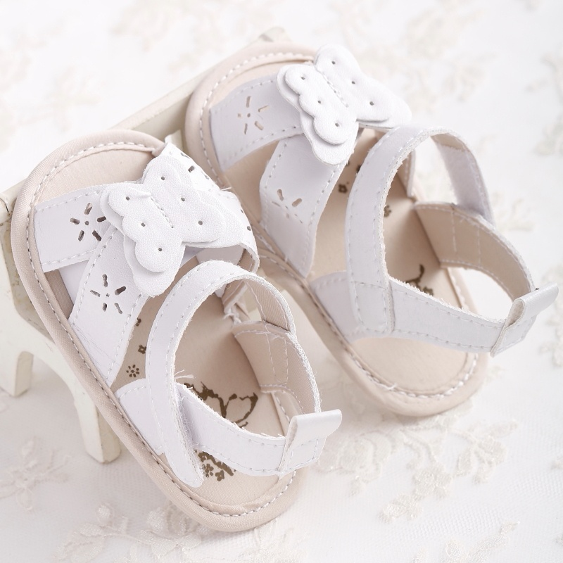 2018 Summer Newborn Shoes Butterfly Baby Girl Prewalker PU Leather Baby Shoes Girls Princess Crib Shoes