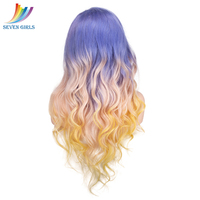 Sevengirls Purple/#613/Yellow Color Ombre Wigs Brazilian Wave Full Lace Human Hair wigs With Baby Hair 8 30 Inch Available