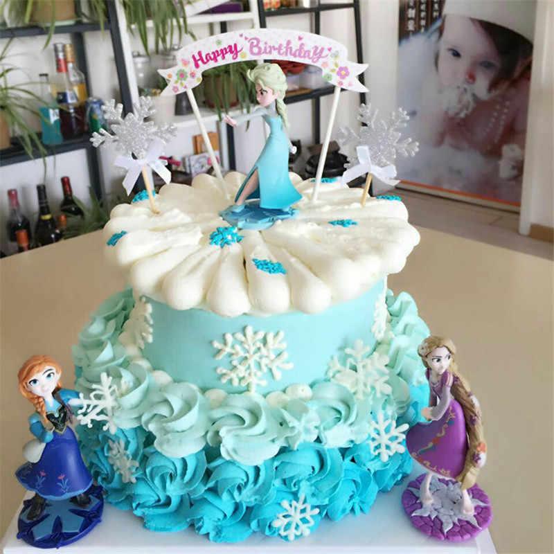 Princess Birthday Cupcake Dolls Topper Cake Decorating Toys For Kis Children Girls Decoration