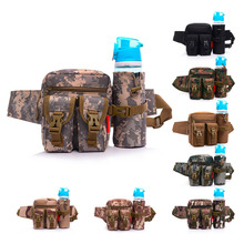 Unisex Bum Waist Bag Sport Fanny Pack Detachable Water Bottle Holder Belt Pouch Tactical Bag Outdoor Travel Military Equipment