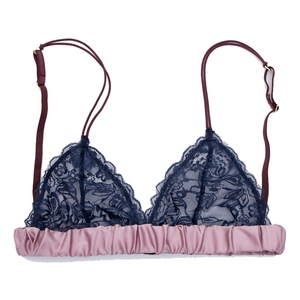 Image 4 - Wriufred 섹시한 레이스 Spongeless Bralette 와이어 무료 울트라 얇은 속옷 여성 자수 란제리 삼각형 컵 브래지어 플러스 사이즈 브래지어