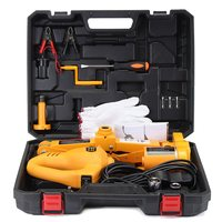 12V Electric 2T Electric Lifting Jack Car Impact Wrench Tire Replace Repair Tool With LED Light