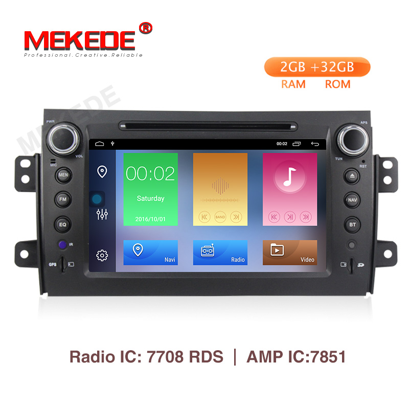 Free shipping! Mekede <font><b>Car</b></font> <font><b>Radio</b></font> <font><b>Multimedia</b></font> Video Player Navigation GPS For <font><b>Suzuki</b></font> <font><b>SX4</b></font> android 9.1 2GB+32GB wifi BT 4G navi image