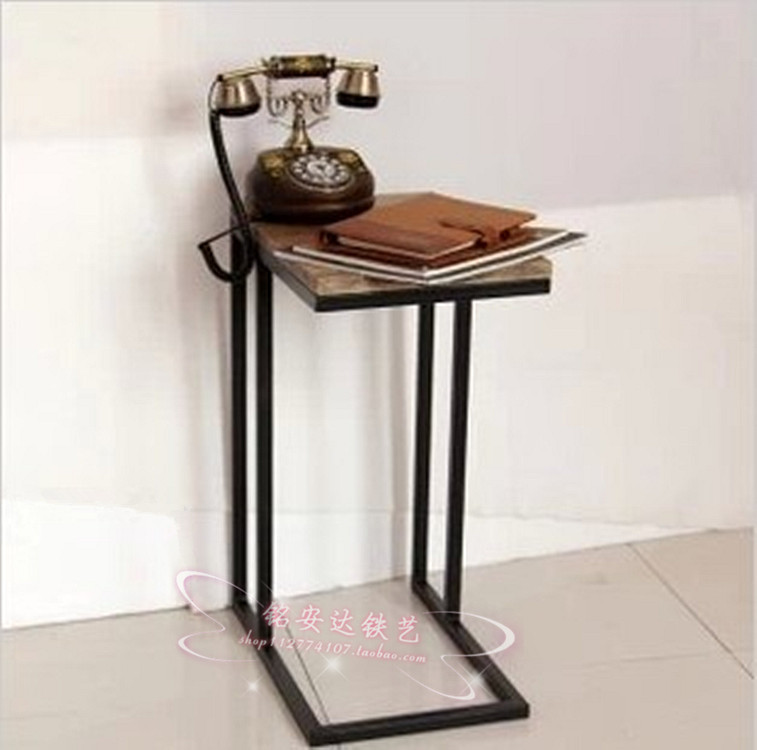 American Iron bedroom bedside cabinet telephone stand shelf newspaper rack living room shelf Iron Side Table