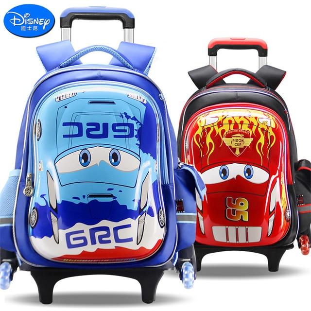 d97cda076375a Disney 2018 Cars Children Trolley Bag High Quality School Bag for  Boys Girls Cartoon Schoolbag Fashion Kids