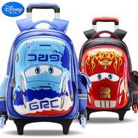Disney 2018 Cars Children Trolley Bag High Quality School Bag for Boys&Girls Cartoon Schoolbag Fashion Kids Bag Grade 1 5