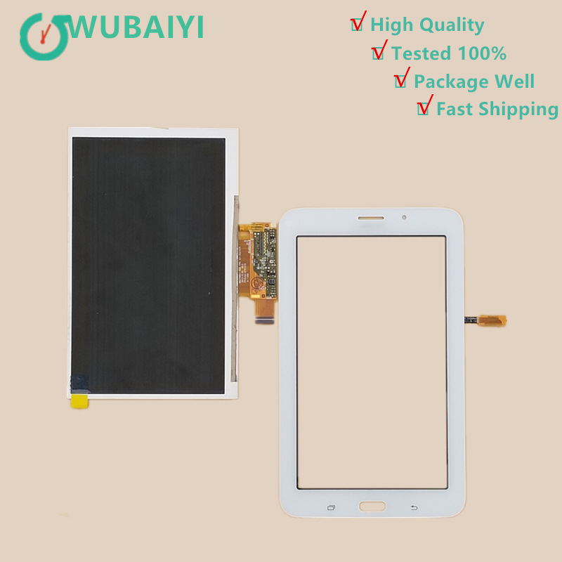 цена на For Samsung Galaxy Tab 3 Lite SM T113 T116 Touch Screen Panel Digitizer Glass Lens +LCD Display Sensor Replacement