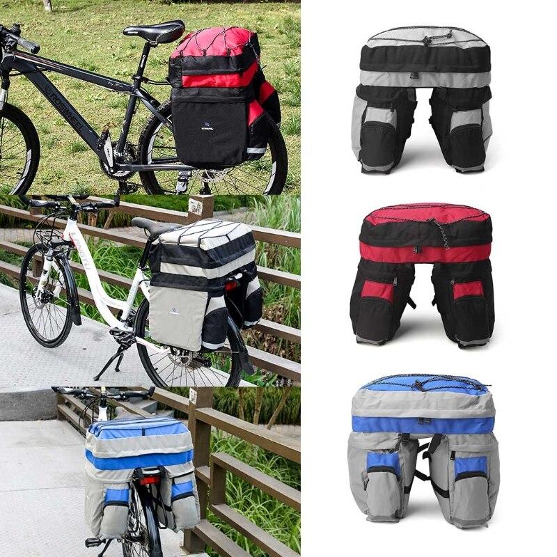 ROSWHEEL 60L Bike Accessories Bicycle Rear <font><b>Seat</b></font> Trunk Bag Handbag Pannier With <font><b>Rain</b></font> Cover For Mountain Road Bike