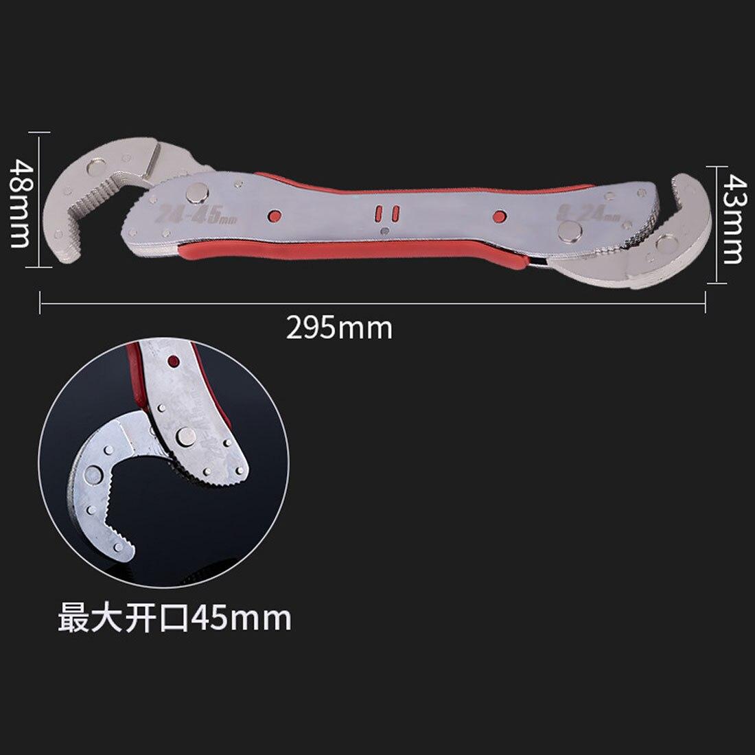 9-45mm Regolabile Multiuso Magia Strumenti Chiave Universale Chiave A Tubo Chiave Chiave Regolabile Per La Casa
