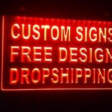 Дизайн свой собственный пользовательский ADV светодиодный неоновый светильник знак бар Открытый дропшиппинг декор магазин ремесел светодиодный