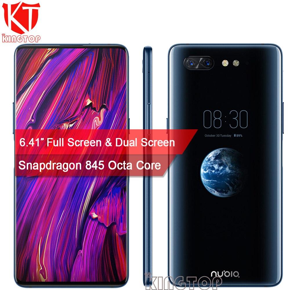 Nouvelle D'origine ZTE Nubia X Mobile Téléphone Double Écran 6.26 + 5.1 6/8 gb + 64 /128 gb Snapdragon 845 Octa Core 16 + 24 mp Caméra D'empreintes Digitales