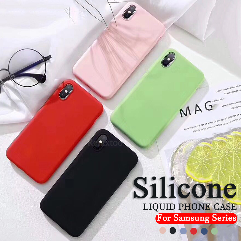 Silicone Case for Samsung A50 A70 A40 A30 A10 smart Phone Soft Liquid Cover on the For Galaxy a <font><b>50</b></font> <font><b>40</b></font> 30 70 10 50a 30a 70a Coque image