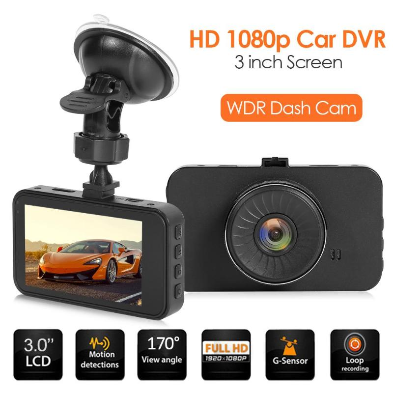 VODOOL Car DVR Dashboard SE018 Driving Voice-Video-Recorder Wide-Angle WDR 1080P 3inch